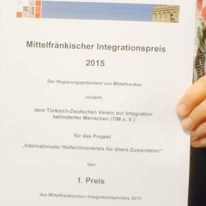 Mittelfränkischer Integrtionspreis
